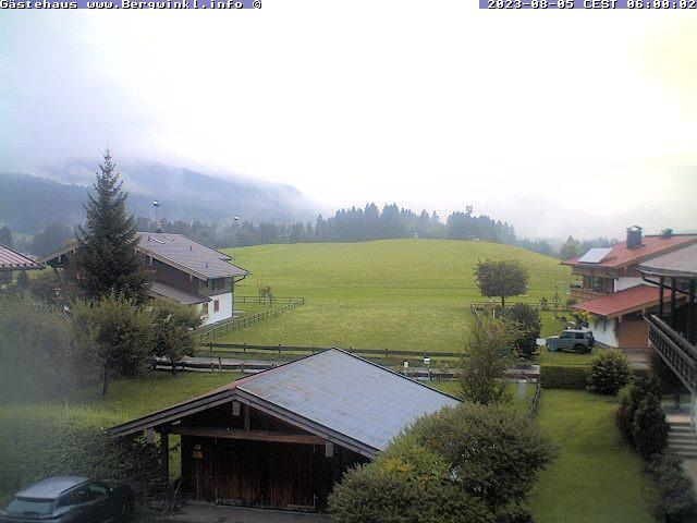 Bergwinkl Webcam - Ausblick vom Balkon der Ferienwohnung Kaiserblick