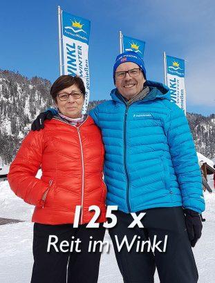 Norbert und Doris Rothhaar Reit im Winkl Langlaufstadion.