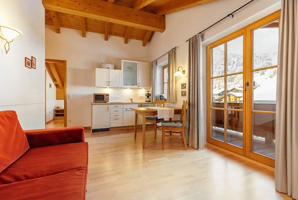 Holiday apartment Hausberg - Living and Cooking