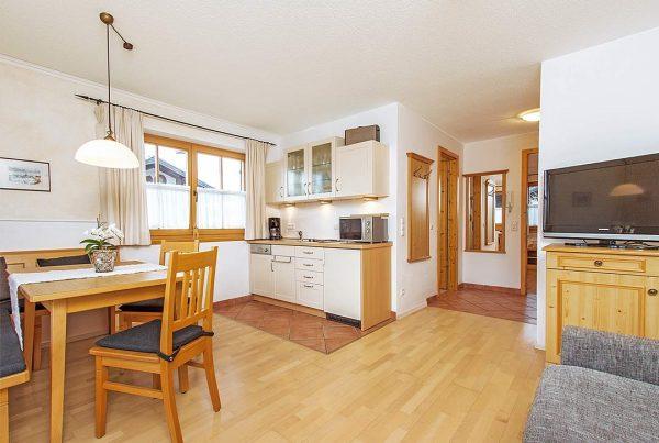 Ferienwohnung Unterberg - Wohnbereich mit Küche